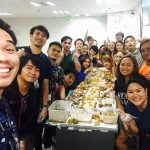 Culture tasting. Clinitude Philippines typical Boodle fight.